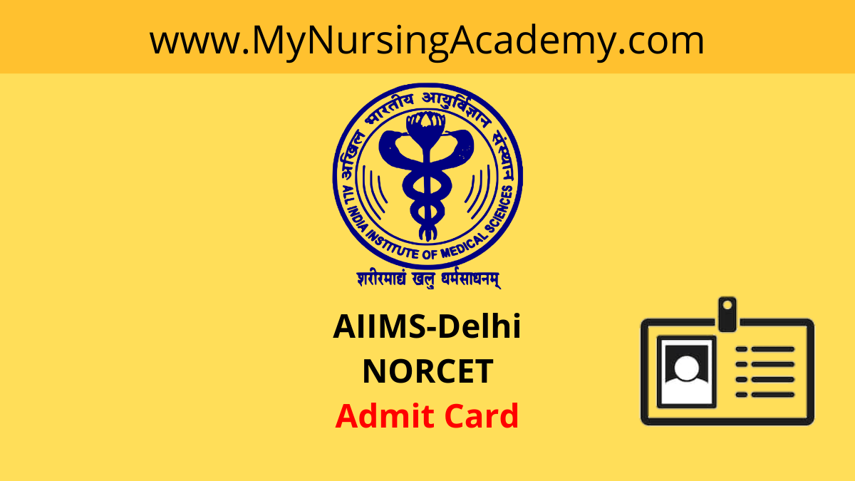 NORCET EXAM Admit Card